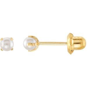 Boucles d'oreilles Perle Artificielle Inverness Piercing