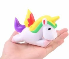 Aolige Jumbo Squishies Cute Wings Unicorn Kawaii Cream Scented Very Squishies Slow Rising Decompression Squeeze Kids Simulation Toys