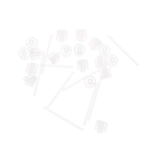 部分的逃れる乳Lurrose 20ピースプラスチック香水ポンプディスペンサー香水ディスペンサーツール