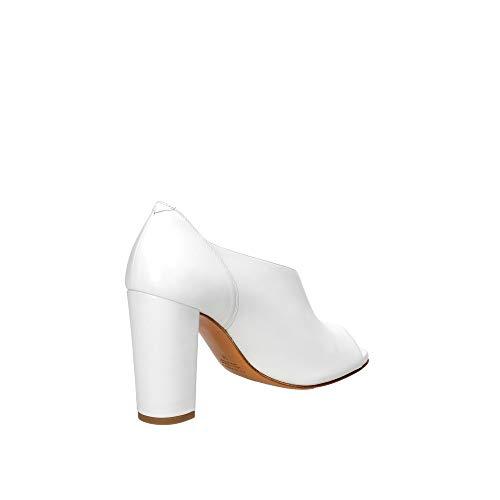 ALBANO Sandalo Spuntato in Pelle Bianco, Bianco, 40