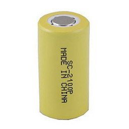 NiCd Extended Capacity Rechargeable Sub C Cell w/ Flat Top SC-2100 (Nicad Sanyo Batteries)