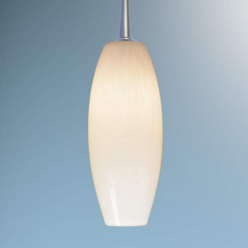 Bruck Lighting 320119MC/MP Line Voltage Pendant with Mono-Point Canopy and White Fritted Glass Shade from The Ciro Collection
