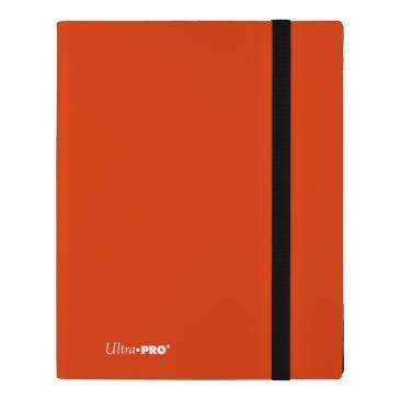 Pumpkin Orange Ultra Pro 9 Pocket Eclipse Pro Binder Soft Plastic Card Storage Binder Portfolio Album