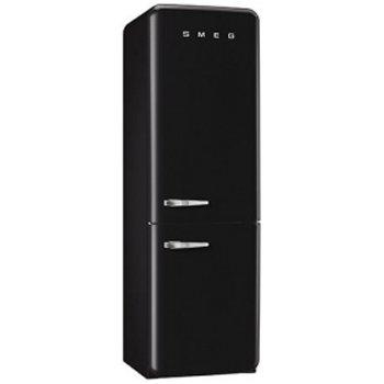 Smeg FAB32UBLRN 50s Style Bottom Freezer 11.7 Cubic Feet Black Right-hand Refrigerator