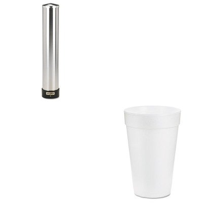 KITDRC14J16SJMC3400P - Value Kit - Dart Drink Foam Drink (DRC14J16) and San Jamar Large Water Cup Dispenser w/Removable Cap (SJMC3400P) by DART