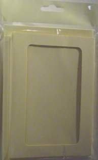 A6 Cream Rounded Oblong Aperture Card Blanks & Envelopes (5 PACK) UK Card Crafts