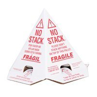 No Stack Cones - pack of 50. Red/White Tri-Lingual (Pallet Cones) 8x8x10