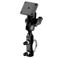 550 Motorcycle Mount - RAM U BOLT MOTORCYCLE HANDLEBAR MOUNT with short 4.4cm ARM & AMPS PLATE BASE for the GARMIN ZUMO 400 500 550 660 GPS SATNAV SYSTEMS.