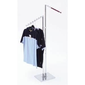2 Way Garment Rack Slant Arm by Retail Resource
