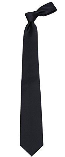 Black Boys Necktie (B-ADF-19 - Boys - Black - Solid Necktie)