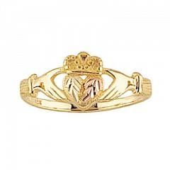 Beautiful! Yellow-gold Black Hills Gold Women's Claddagh Ring