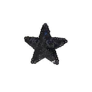 スパンコールモチーフ 星型<小>(M867) アイロン接着 42.ブラックの商品画像