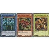 YuGiOh Legendary Collection Ultra Rare God Card Set of 3 Egyptian God Cards Slifer, Obelisk Ra (LIMITED EDITION) ULTRA RARE Version