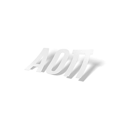 Alpha Omicron Pi aoii White Letter Sticker Decal Greek 2 Inches Tall for Window Laptop Computer Car ()