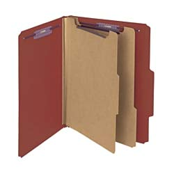 Pressboard Divider 2 (Smead Pressboard Classification File Folder with SafeSHIELD Fasteners, 2 Dividers, 2