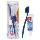 Dr. Fresh Travel Kit Crest/colgate Toothpaste-brush-cover...