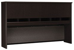 Bush Business Furniture Series C 72W 4 Door Hutch in Mocha Cherry by Bush Industries