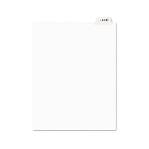 Avery 11950 Avery-Style Preprinted Legal Bottom Tab Divider, Exhibit K, Letter, White (Pack of 25)