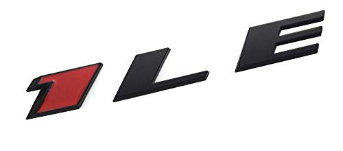 Camaro Rear Emblem - Aimoll 1LE Emblem Badge Letter Rear Side Replacement for Camaro 1LE Door Genuine (1pc 1LE Black)