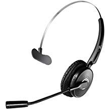 Bluetooth Headset V4.2 - Noise Canceling Wireless Bluetooth Headset for Truck Driver - Hands Free Wireless Over Head Earpiece with Noise Reduction Mic for Office/Driving (20 Hours Talk Time).