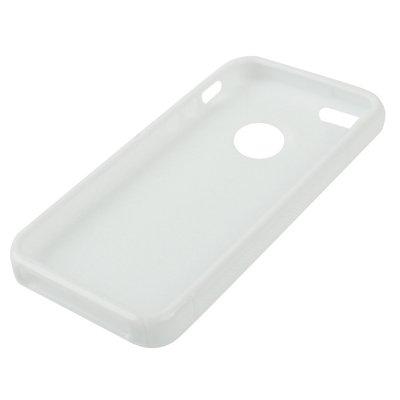 iPhone 5 / 5S Hülle in weiss / weiß aus Silikon mit Ausschnitt für das Apple Logo -Original nur von THESMARTGUARD-