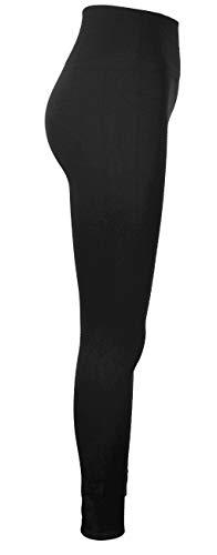 Emma & Giovanni – Legging Taille Haute sans Couture (Tissus Polaire) – Femme