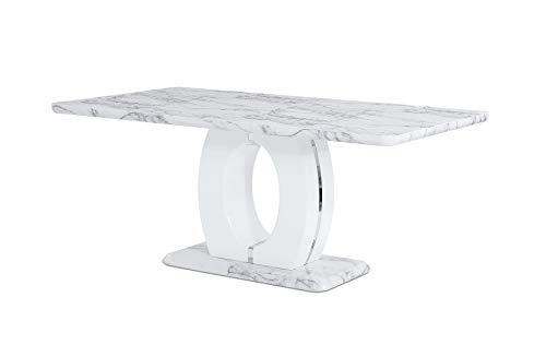 (Global Furniture USA D894DT Global Furniture Faux Marble Pedestal Base Dining Table, BR)