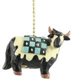 Country Cow Ceiling Fan Pull Primitive