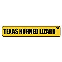 (Texas Horned Lizard ST - Animals - Street Sign [ Decorative Crossing Sign Wall Plaque ])