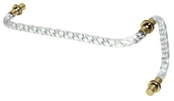 C.R. LAURENCE CAT8X18BR CRL Acrylic Twist 18 Towel Bar With 8 Pull Handle and Brass Rings - Combin by C.R. Laurence