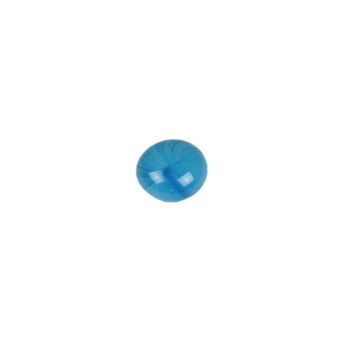 Mini Glass Gems - Electric Sky Blue (Non-Iridized, 12-14mm.) - Sample/1 Gem