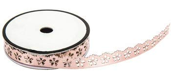 Rose Gold Scalloped Faux Leather Trim Ribbon - 2 Yards