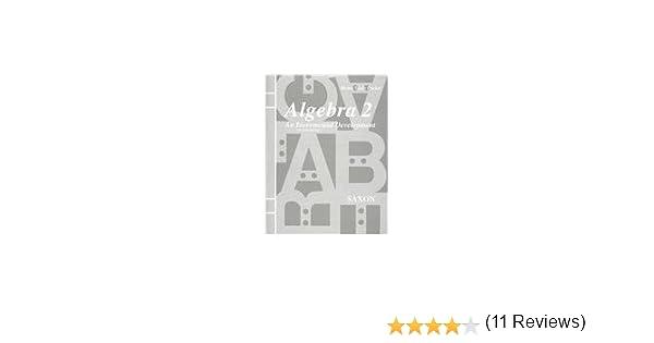 Amazon.com: Homeschool Packet for Algebra 2: An Incremental ...