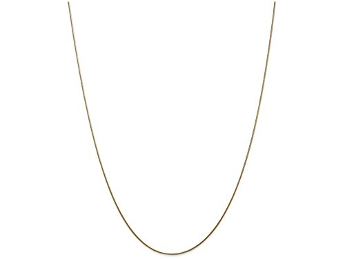 Finejewelers 14 Inch 14k Yellow Gold .80mm Round Snake Chain Necklace 14k Yellow Snake Chain