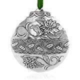 Poinsettia Classic Hanging Ornament, Metal, Handmade in the USA by Wendell August Forge