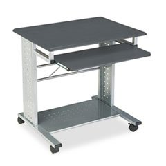 Empire Mobile Pc Cart, 29-3/4w X 23-1/2d X 29-3/4h, Anthracite By: Mayline Anthracite Mayline Office Furniture