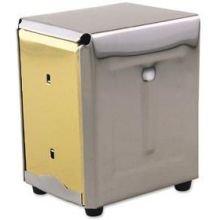 Alegacy Stainless Steel Junior Napkin Dispenser, 4 x 4 1/2 x 5 3/4 inch - 1 each.