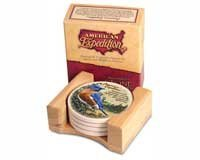 (American Expeditions Bluebird Stone Coaster (4))