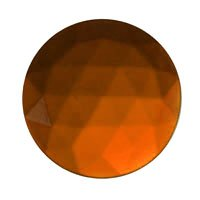 Stained Glass Jewels - 15mm Round Faceted - Dk Amber