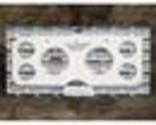"1955-1959 GMC Truck Dash Inserts - 3 3/8"" & 2 1/16"" Autometer Pro-C..."