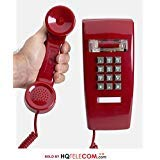 (Industrial Wall Phone with Dialpad & Wallplate - RED by HQTelecom)