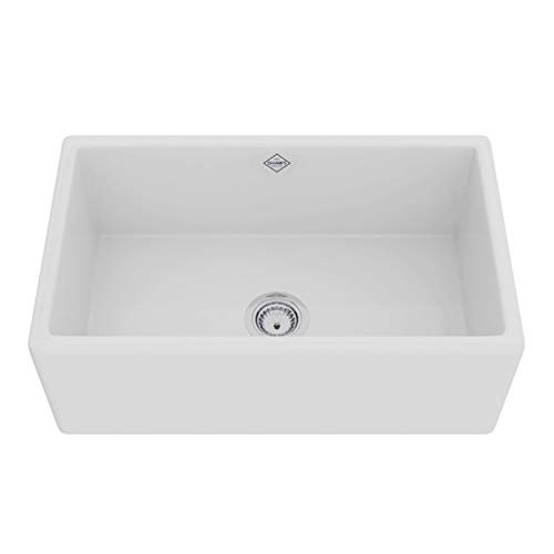 Rohl MS3018WH FIRECLAY KITCHEN SINKS, White