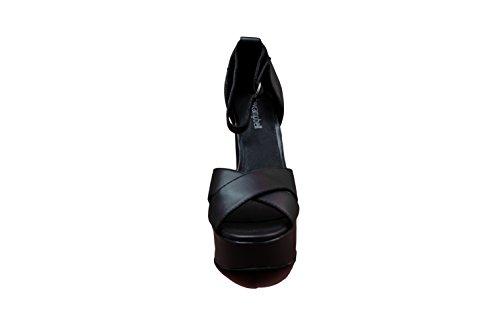 Jeffrey Campbell Stefanya Leather Black