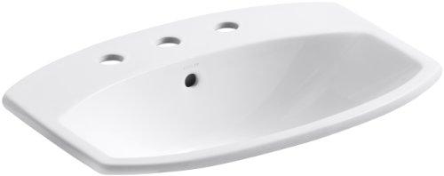 Why Should You Buy KOHLER K-2351-8-0 Cimarron Self-Rimming Bathroom Sink, White
