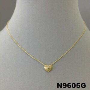 Simple Unique Gold Finish Love Small Heart Charm Design Dainty Collar Necklace Fashion Jewelry for Women Man