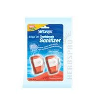 Dr. Tungs Snap-On Toothbrush Sanitizer 2 ea in a pack, 2 Pack