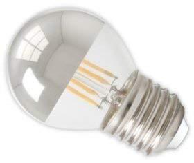 Bombilla Led Regulable con Cúpula de plata.240v 4w 2700k e27. 310 Lumen. 15.000 Horas. 45 x 75mm.: Amazon.es: Iluminación