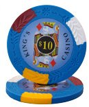 (100 $10 King's Casino Clay Composite 14 Gram Poker Chips)