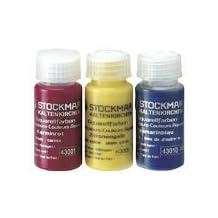 Stockmar Watercolor Paint: 3 Primary Color Assortment 20 ml (Carmine Red, Lemon Yellow, Ultramarine Blue)