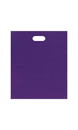 (SSWBasics Large Low Density Purple Merchandise Bags - 15